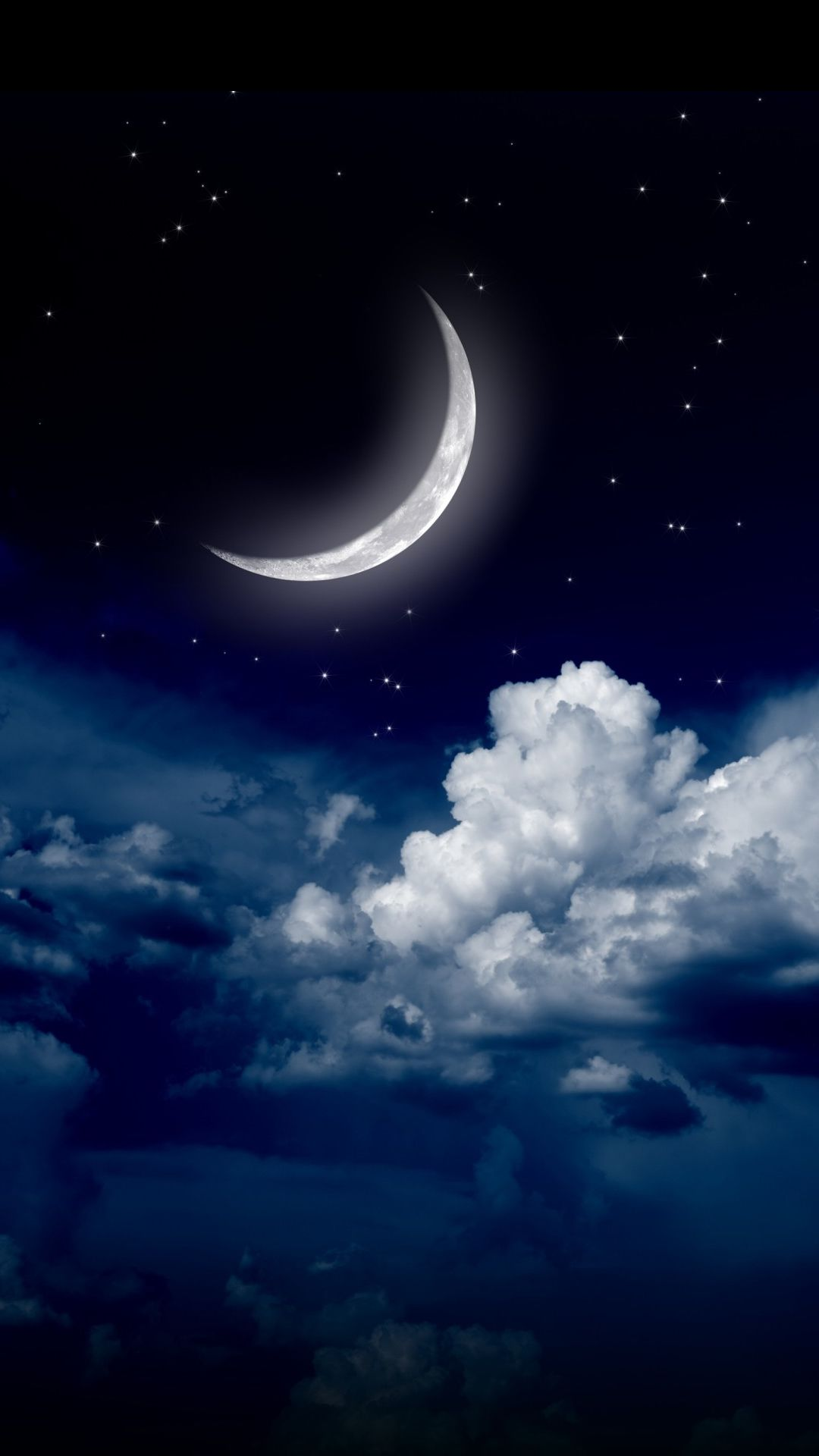 Http Www Vactualpapers Com Gallery Moon Over The Clouds Mobile Hd Wallpaper Night Sky Wallpaper Galaxy Wallpaper Sky And Clouds