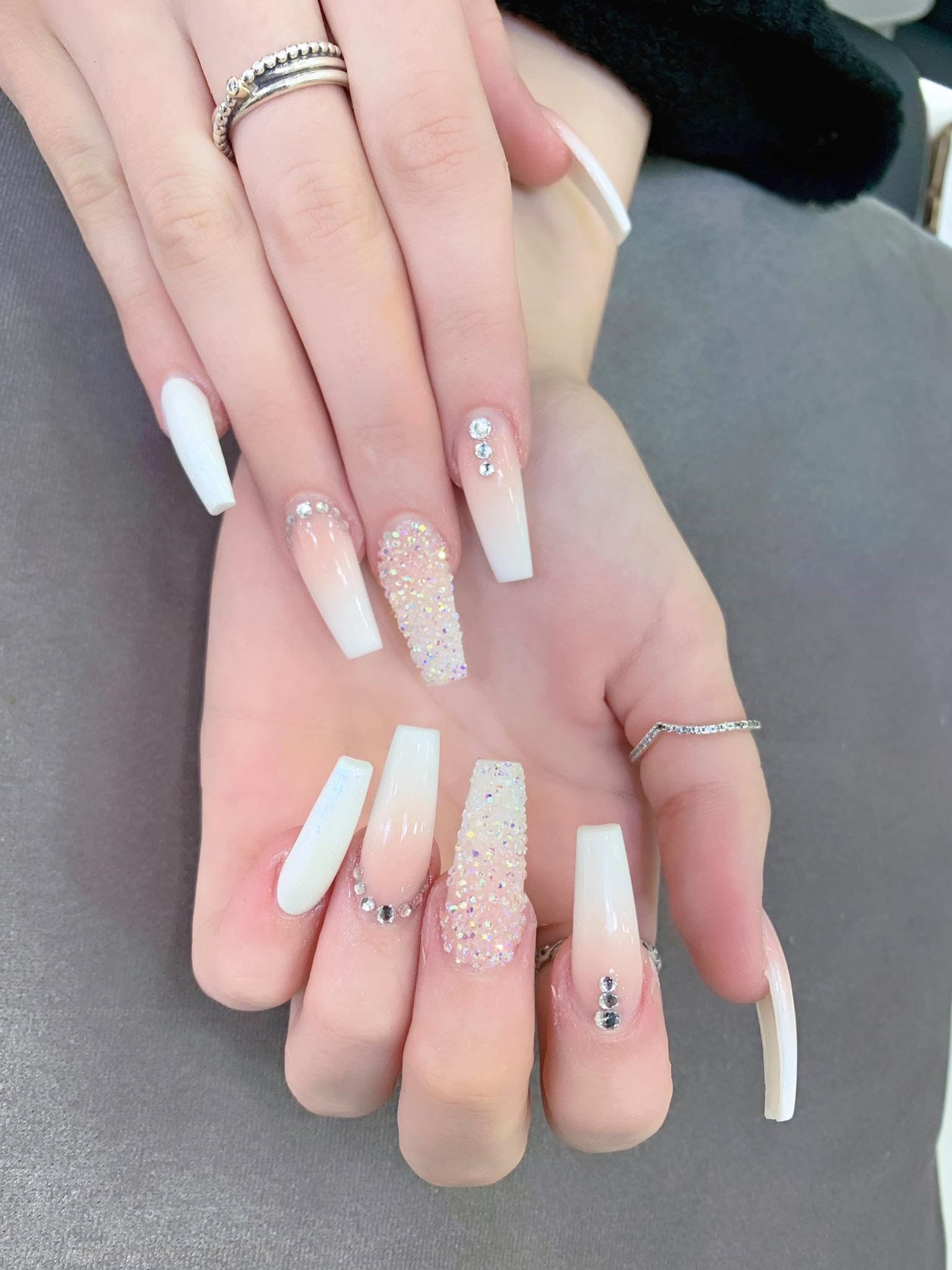 Pin By Rachel Torres On Best Long Nails Design Ideas In 2020 Full Set Gel Nails Long Nail Designs Long Lasting Nails