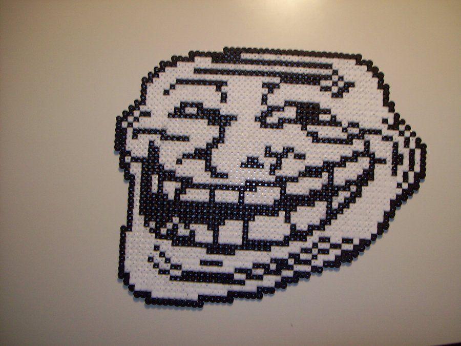 Troll Meme Face Cross Stitch Pattern
