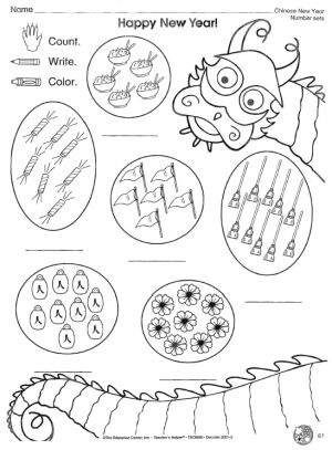 Chinese New Year Counting Worksheet | Chinese New Year | Chinese new ...