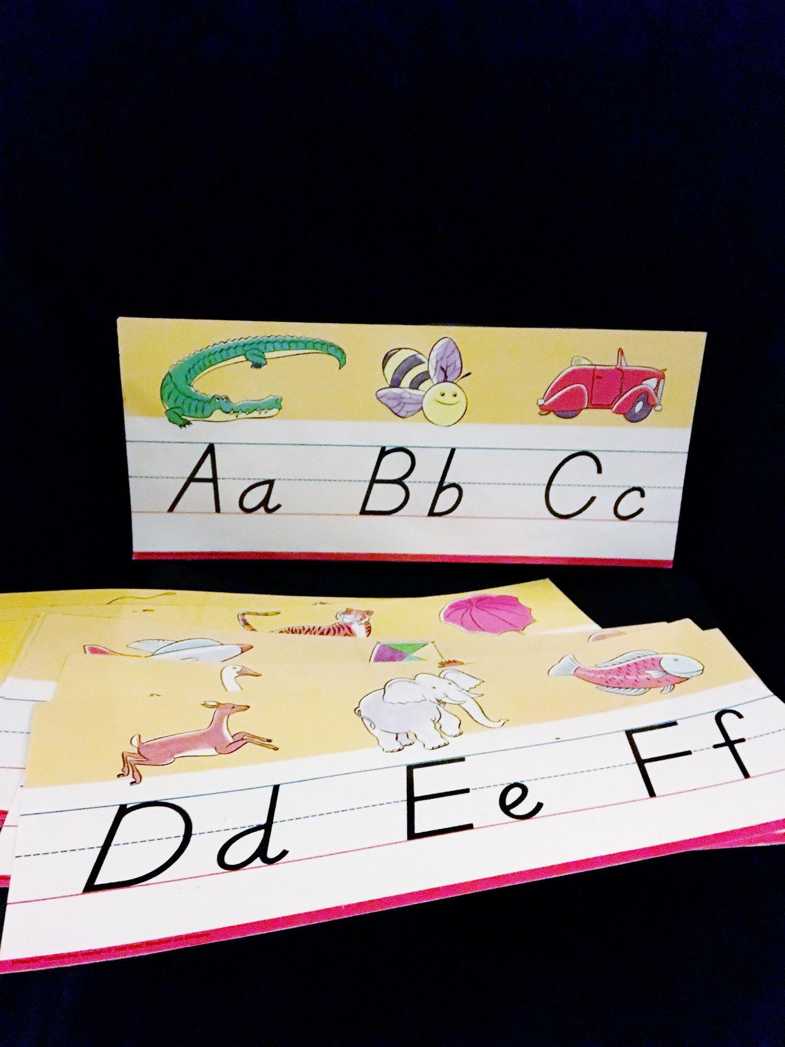 D Nealian Alphabet Border