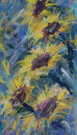 Artwork >> Arturo Arboleda Restrepo >> bloomed #sunflowers  #artwork, #oil, #painting, #masterpiece, #contemporary, #beauty, #extraordinary