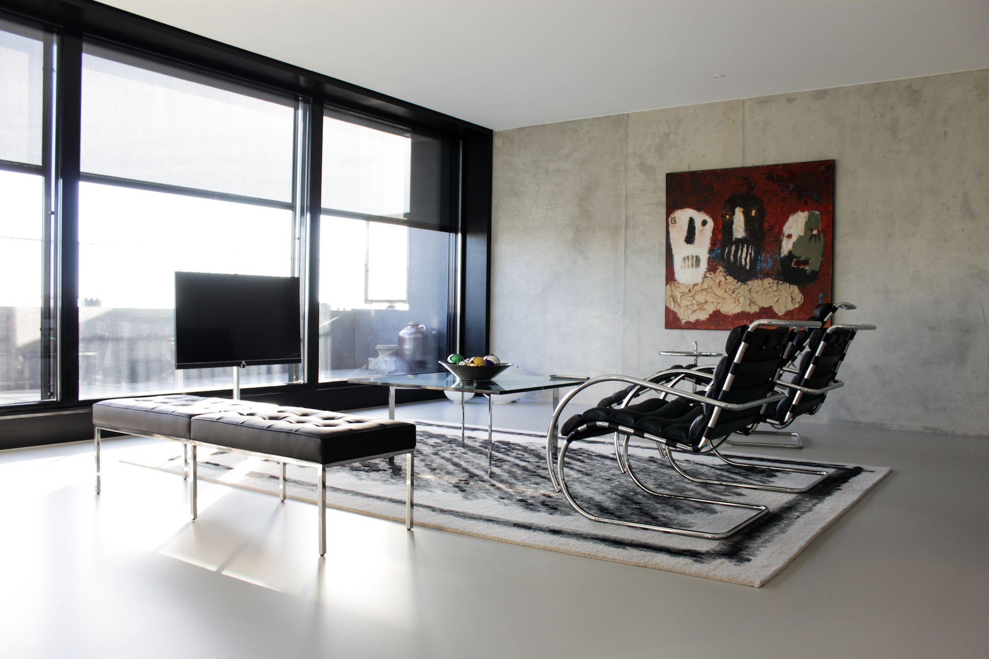 Moderne Woonkamer Ideeën | Motion Gietvloeren #Gietvloer #Betonlook ...