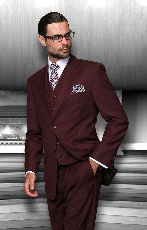 burgundy suit - Buscar con Google   Suit combinations ...