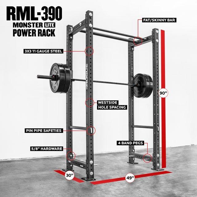 Rogue Rml 390bt Power Rack Garagegym Pinterest Power