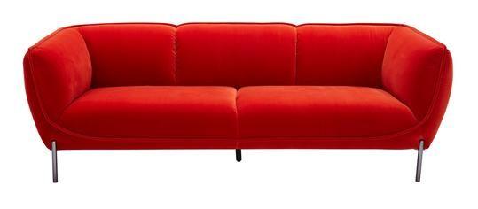 Divani Casa Loma Modern Red Velvet Sofa In 2019 Loves All World