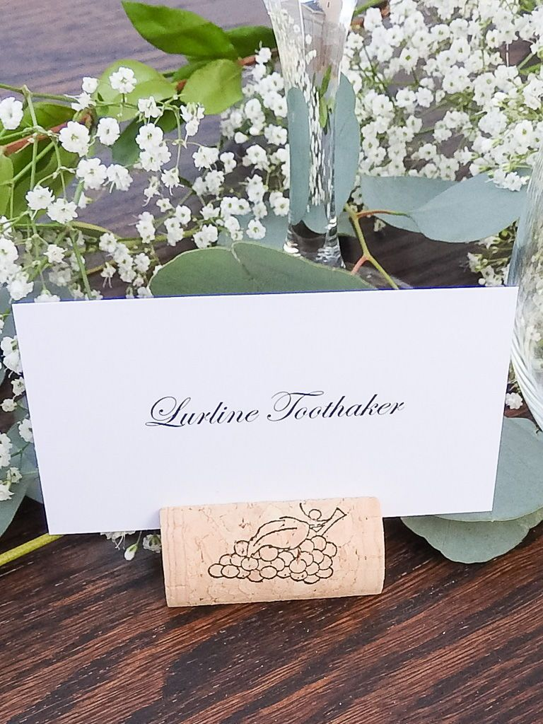 Wedding decorations simple  Wine Cork Place Card Holder  Build Your Own in   Fall Wedding