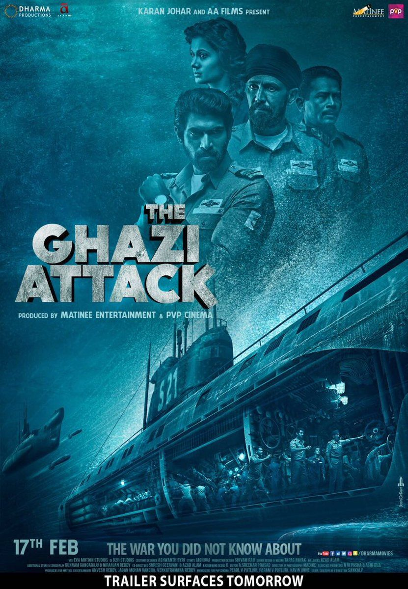 The Ghazi Attack Movie Poster India's first waratsea