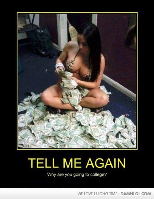 Black college stripper