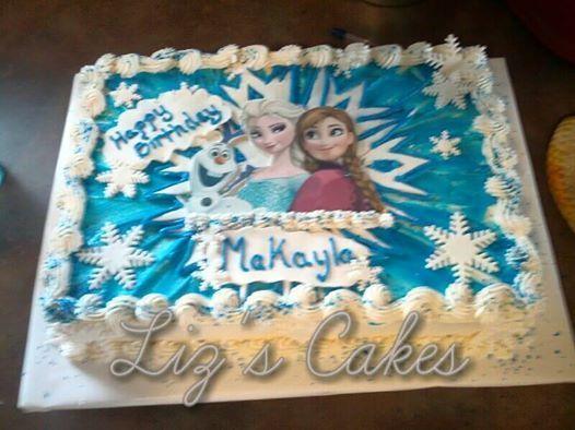 Elsa And Ana Sheet Cakes Frozen Sheet Cake Ideas Frozen Sheet