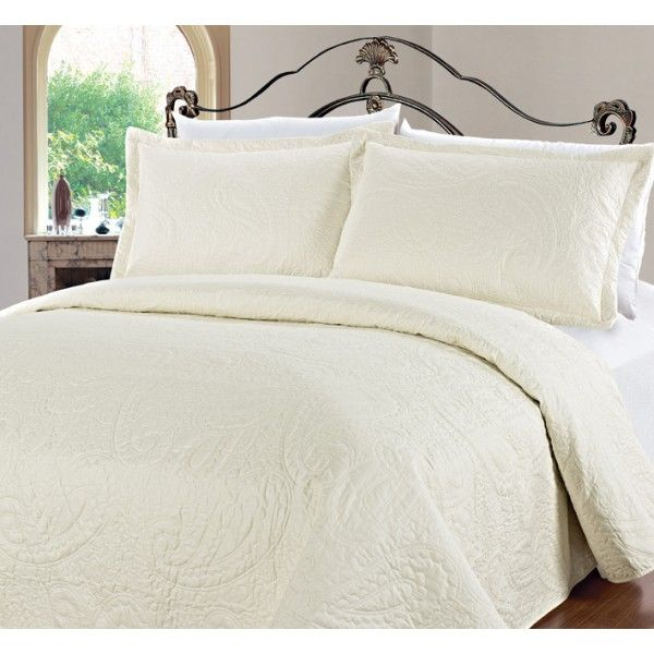 Malborough Quilted Bedspread Marseille Size King Colour Cream Clearanceshop Bed Spreads Home Decor Online Quilted Bedspreads
