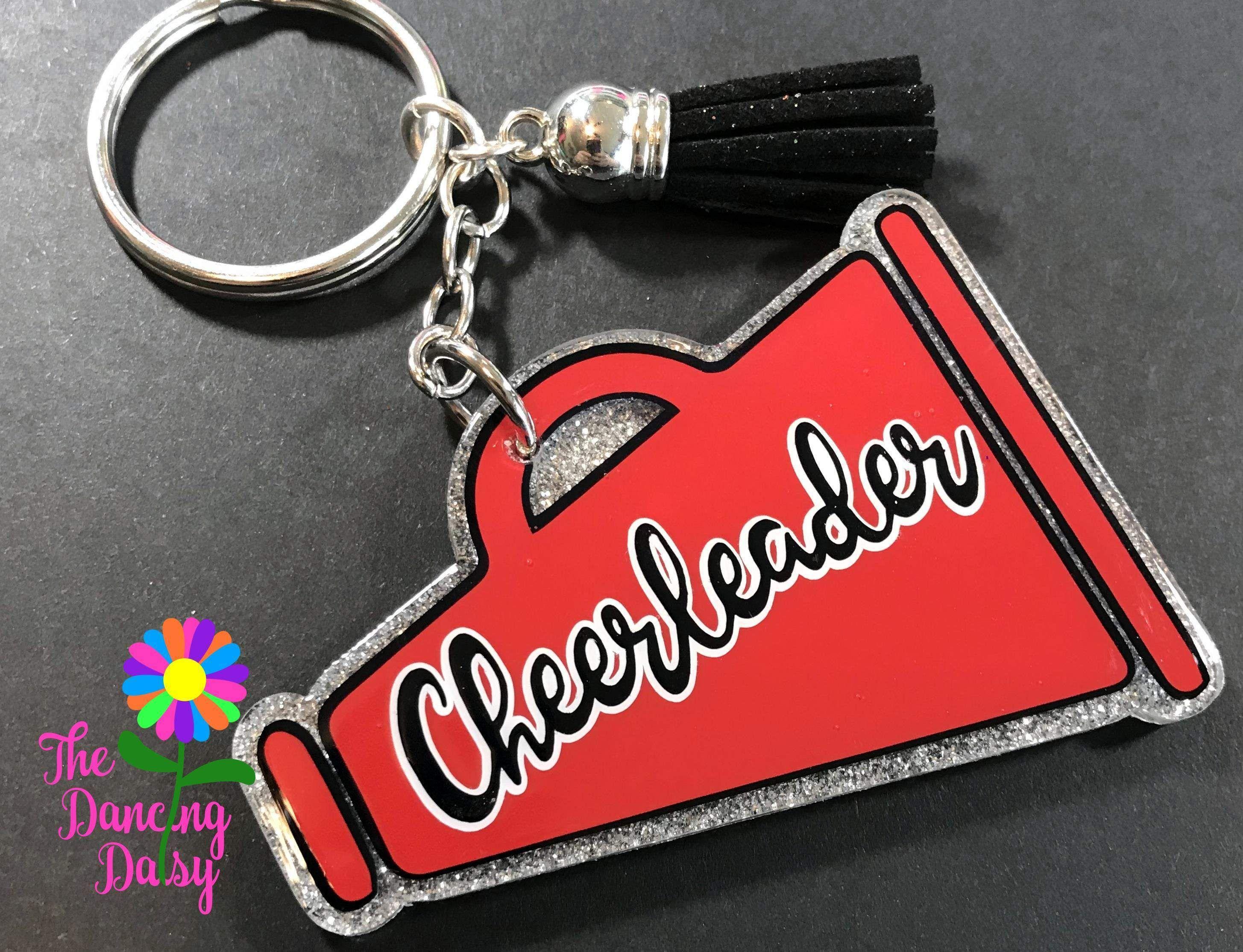 Cheer Megaphone Custom Keychain