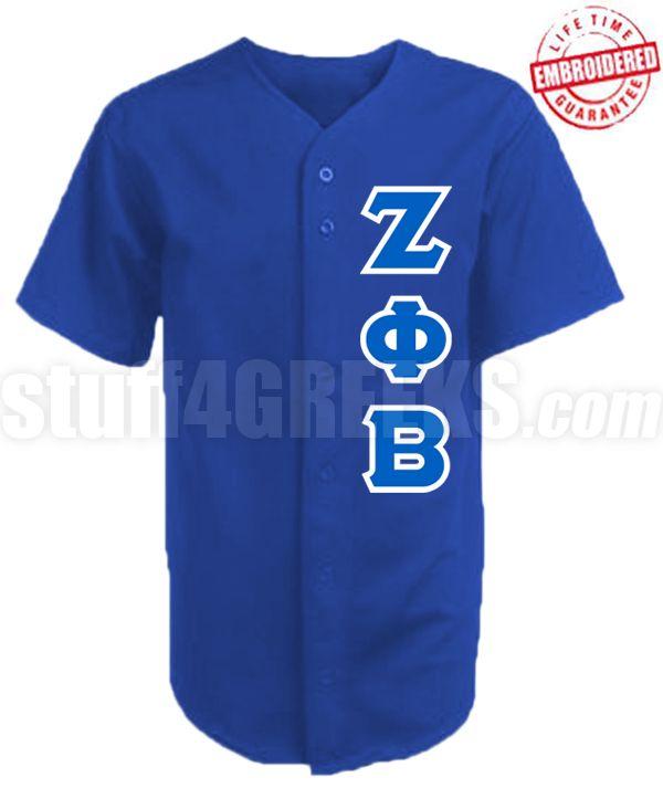 Zeta Phi Beta Greek Letter Cloth Baseball Jersey Royal Blue Ag1680 Embroidered With Lifetime Guarantee Baseball Jerseys Zeta Phi Beta Sigma Greek Letter