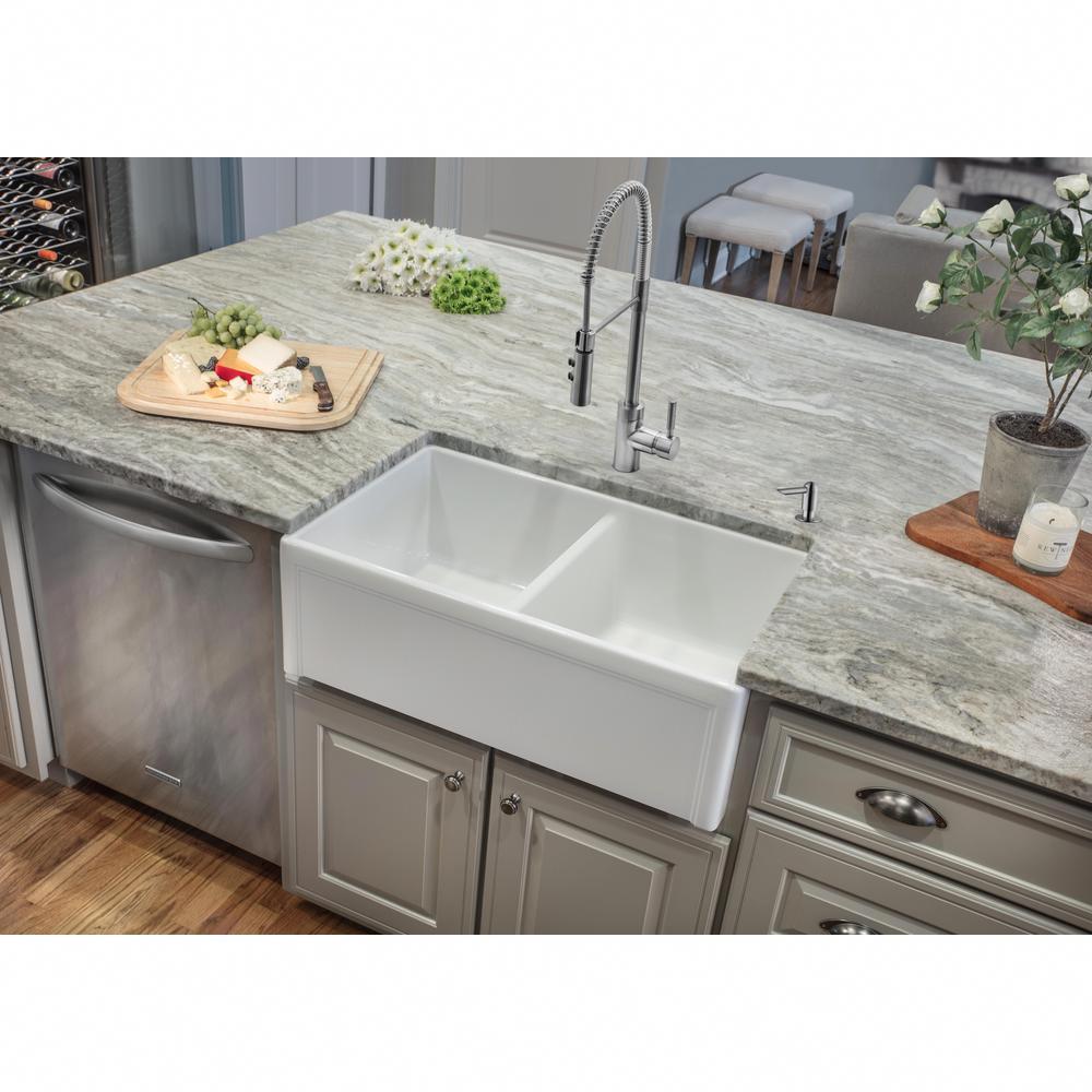 whitekitchenideas in 2020 Farmhouse sink kitchen