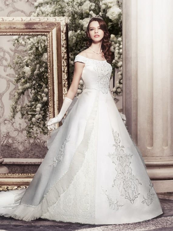 Princess Wedding Dresses With Elegant Strapless Dress - Takami ...