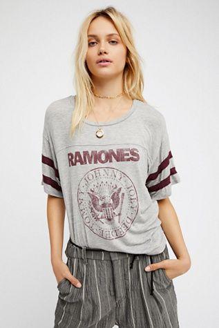 Daydreamer x Free People Womens RAMONES TEE - Bohemian Summer Fashion Trend 2017