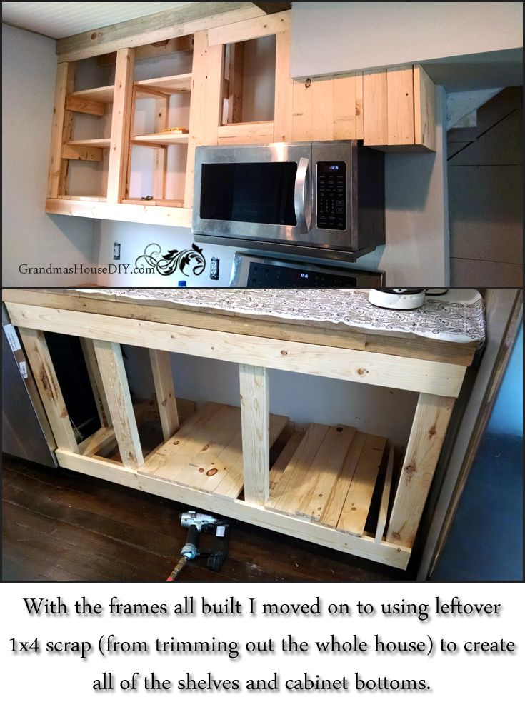 How To Build Your Own Kitchen Cabinets Grandmashousediy Step By Tutorial With Pics