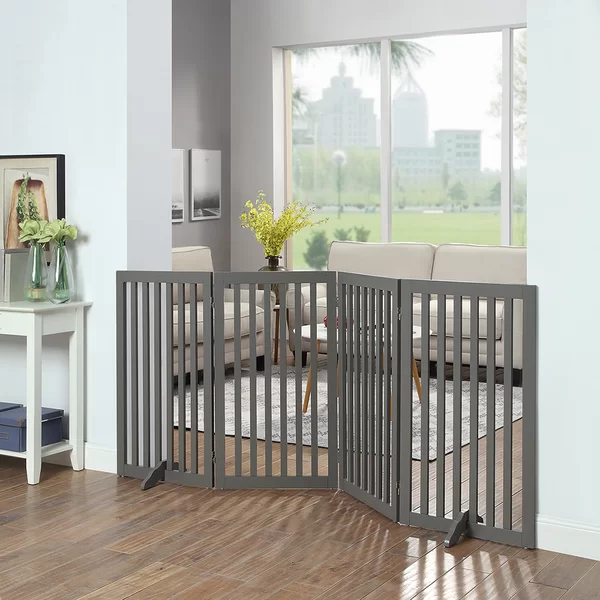 Huxley Wooden Free Standing Pet Gate (With images) Pet