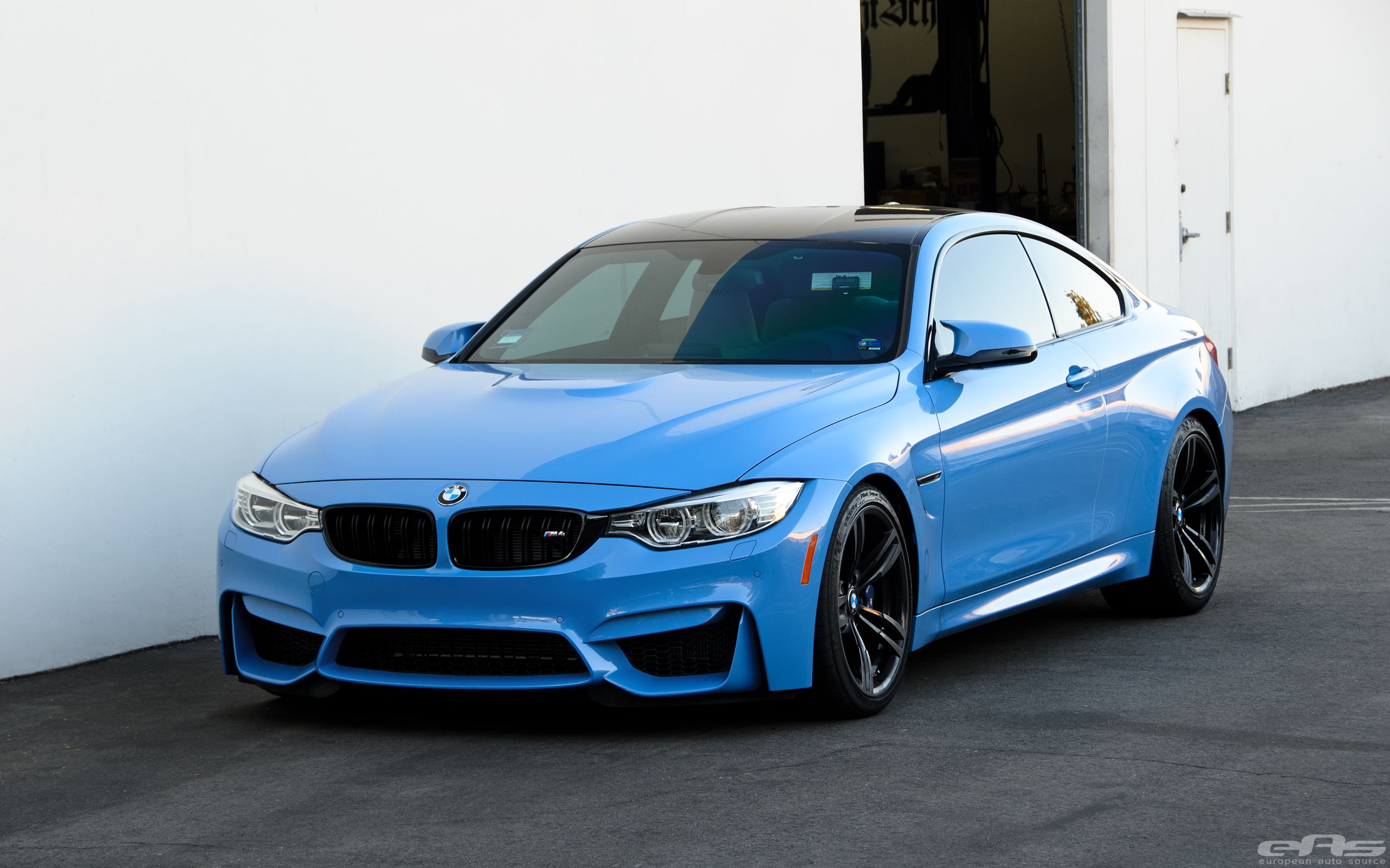 BMW M4 F82 with Akrapovic Exhaust and KW HAS (Height Adjustable Sleeve-Over) lowering spring kits