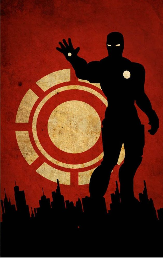Iron Man Flat Wallpaper