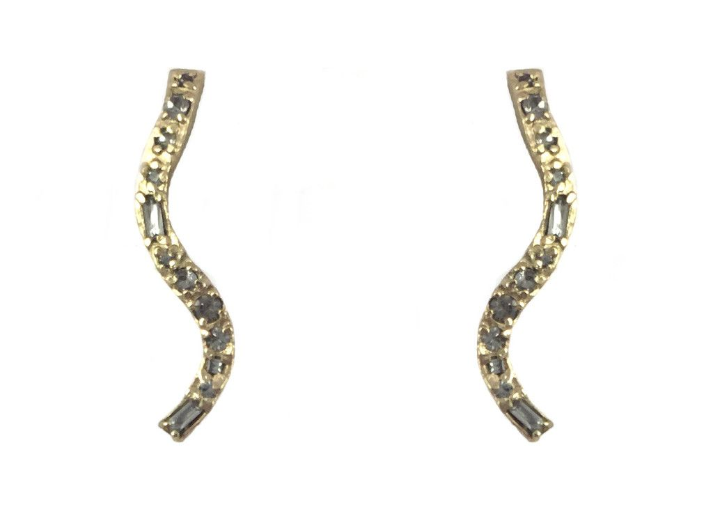 GOLD ZARAGOZA WAVE EARRINGS