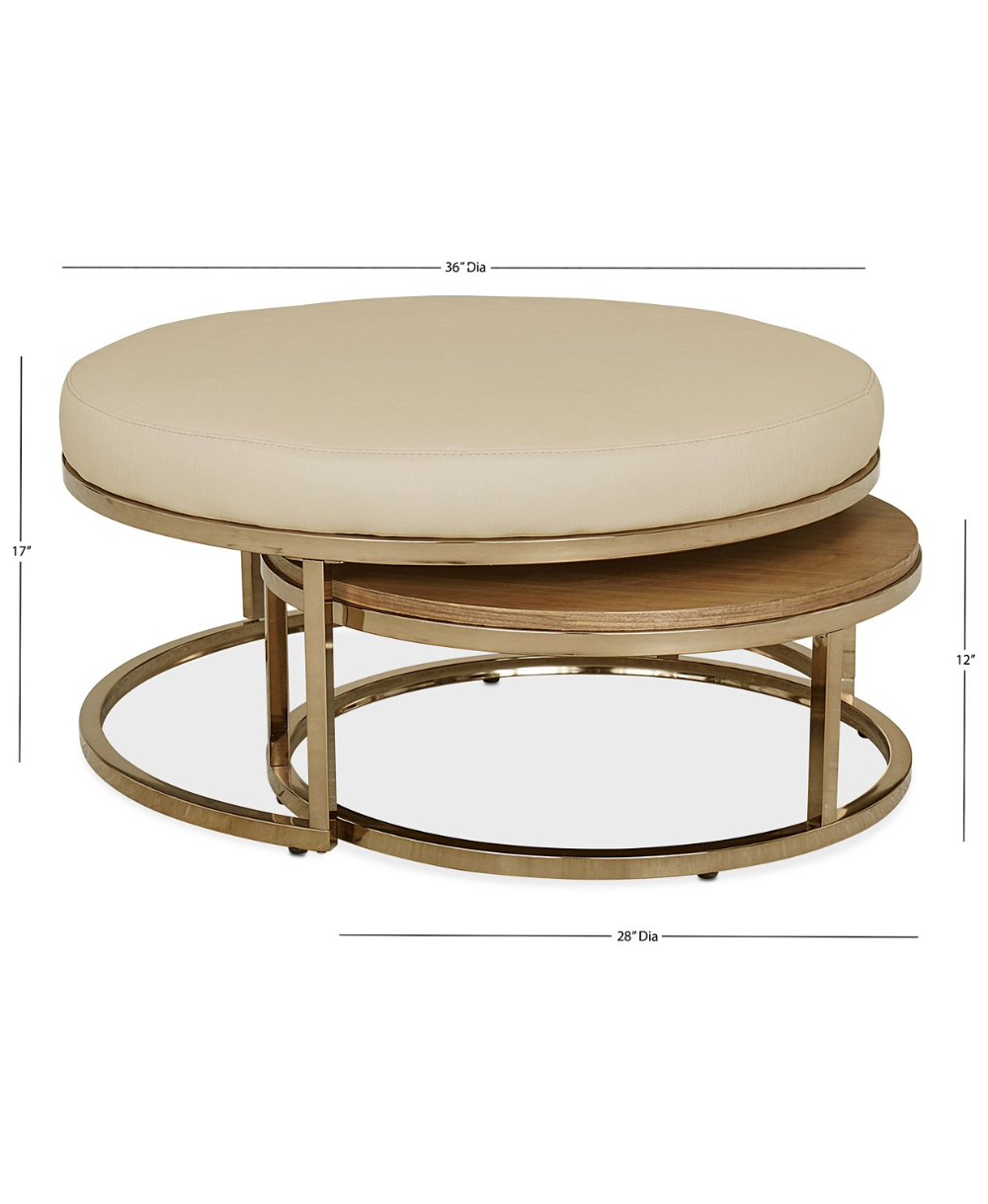 Furniture Jennova Upholstered Round Nesting Coffee Table Created For Macy S Rev Round Nesting Coffee Tables Nesting Coffee Tables Round Ottoman Coffee Table [ 1219 x 1000 Pixel ]