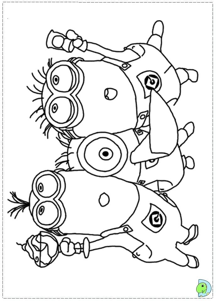 printable Minions Despicable me Coloring Pages for kids boys and