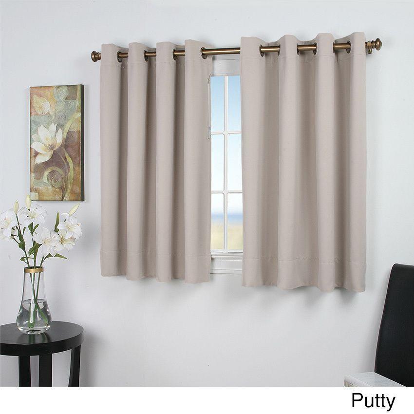 Ultimate Blackout 54 Inch Short Length Grommet Curtain Panel
