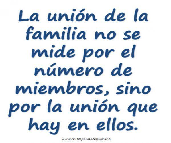mensajes de union familiar