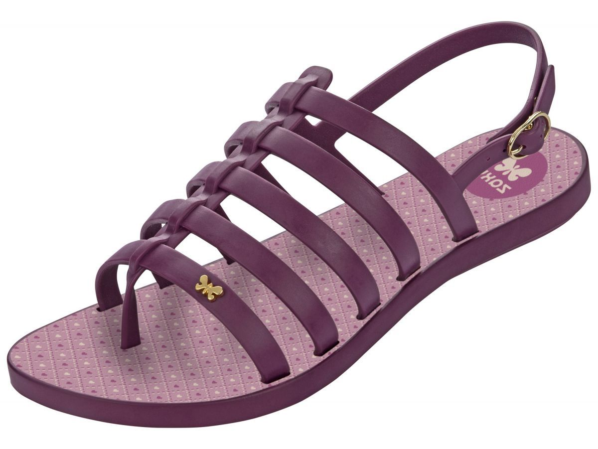 f424dc33904 Zaxy Joy Fresh Purple Slingback Gladiator Flat Sandals