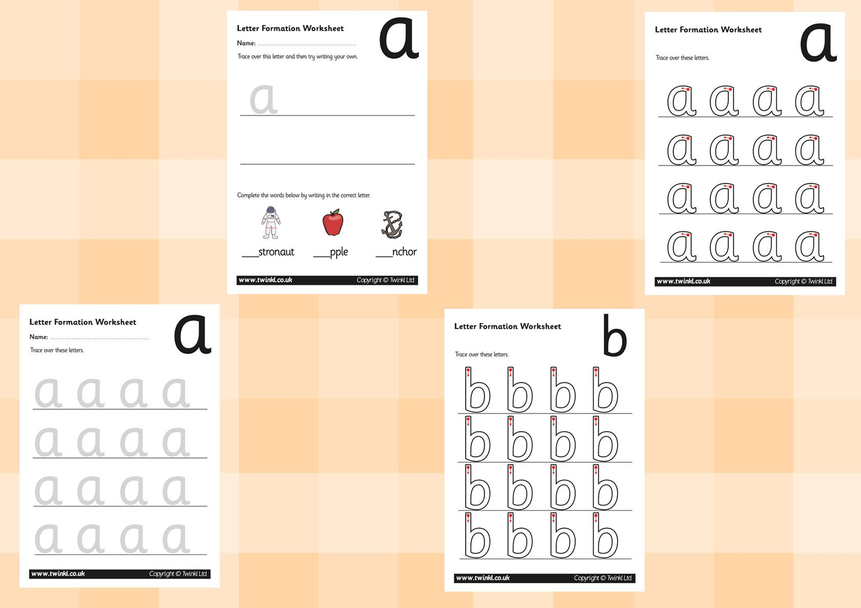 Twinkl Resources Gt Gt A Z Letter Formation Worksheets