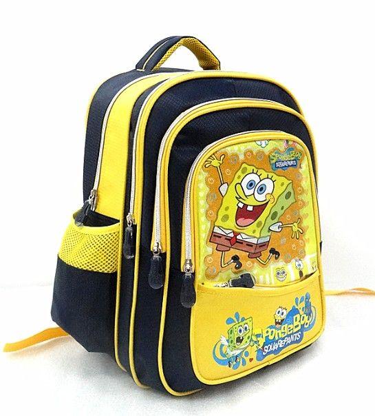 Photo of little bear cartoon bag Spongebob Bag Boys School Bags school satchels bob esponja orthopedic girl backpack children kids bags