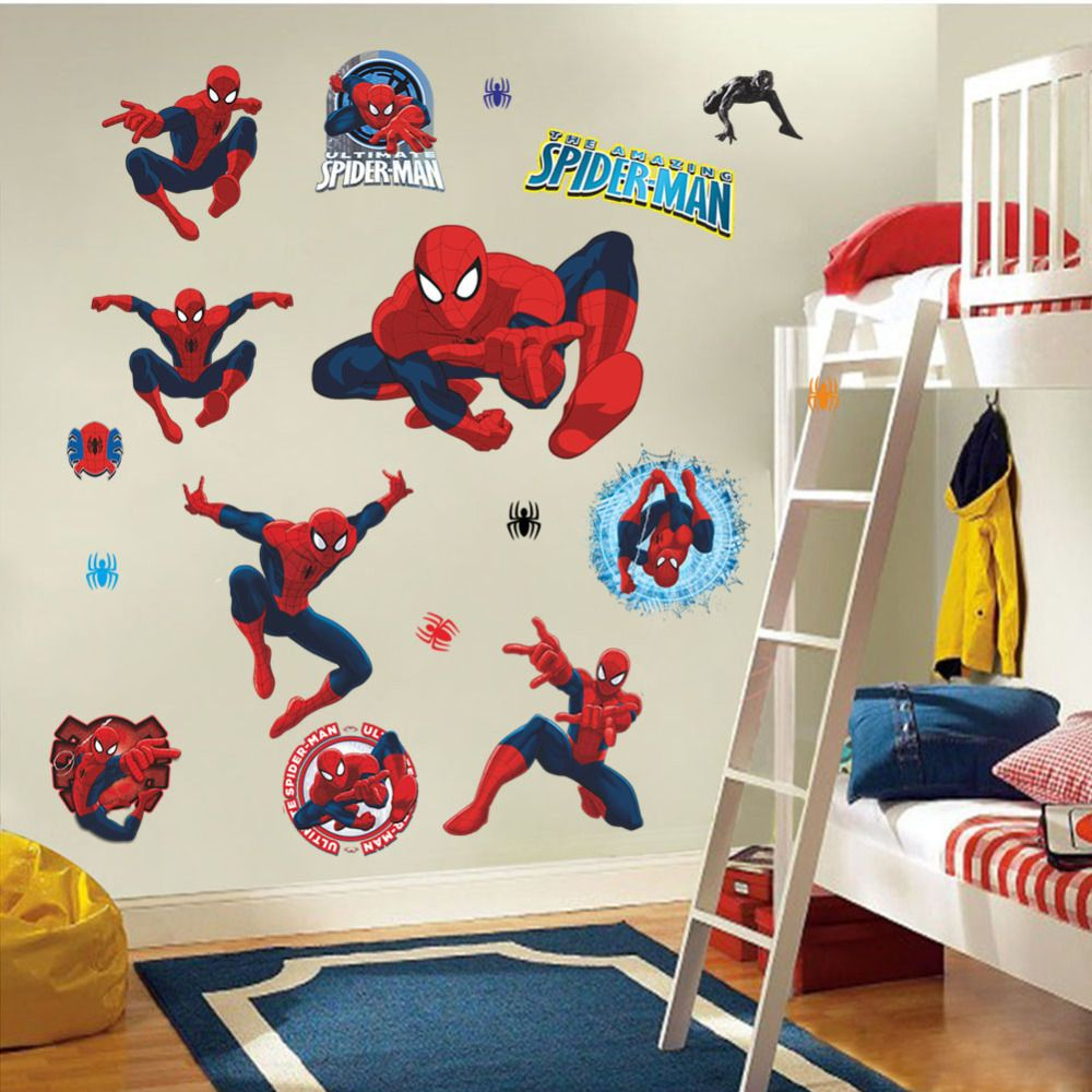 Pin By Leticia Gutierrez On Cuarto De Ian Pinterest - Spiderman wall decals uk