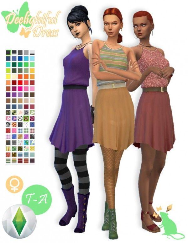 Simsworkshop: Deelightful Dress Recolored by Standardheld • Sims 4 Downloads