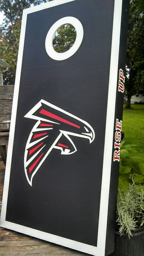 Falcons Rise Up Cornhole Boards Game Tailgating Corn Holes
