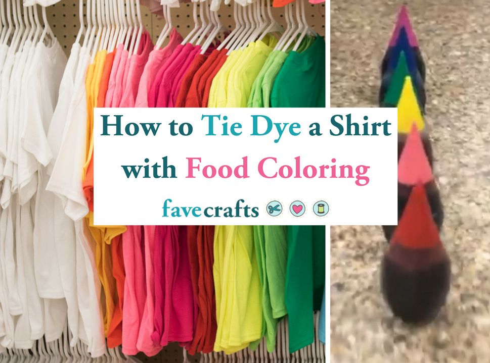 How to Tie Dye a Shirt with Food Coloring -   19 diy projects For Boys food coloring ideas