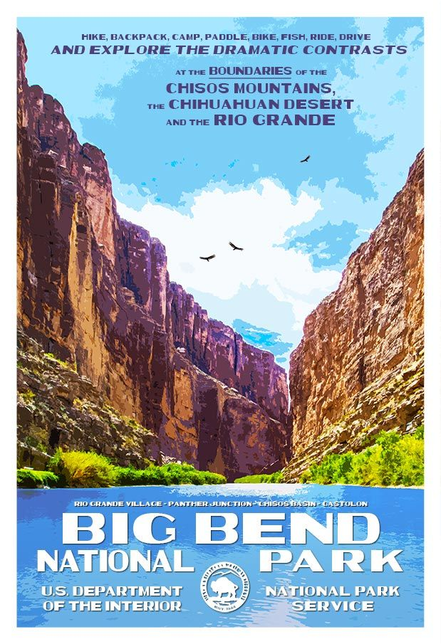 Big Bend National Park & Guadalupe Mountains National Park Posters Released!