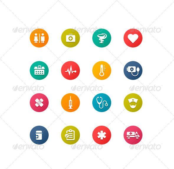 Healthcare Symbols Symbols Icons And Flat Style