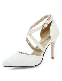 Zapatos de tacón Charol PU Color liso Yu3xW