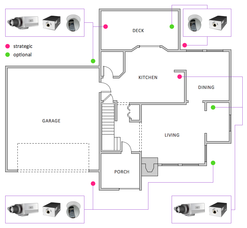Pin By Conceptdraw On Illustrations Audio Video Media Home Cctv Floor Plans How To Plan
