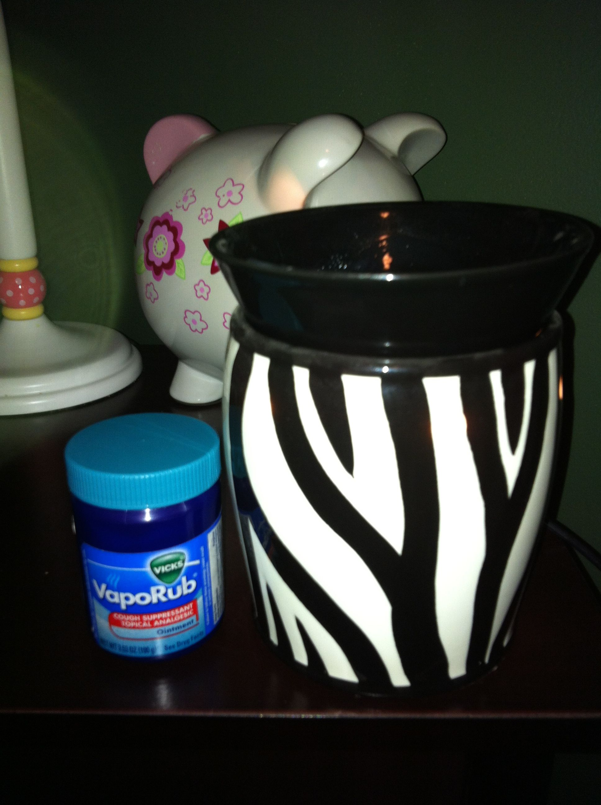 Add a tablespoon of Vicks and a tablespoon of water to your scentsy or any warmer at night for kid's colds