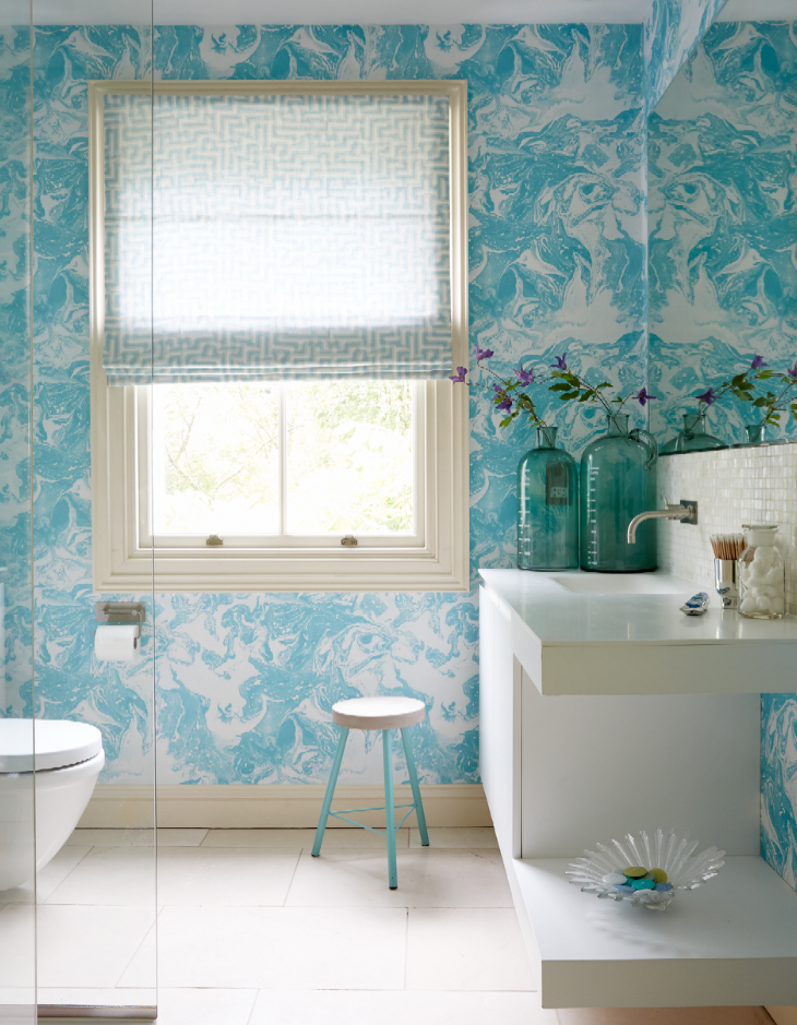 Immerse Yourself In A Watery Bathroom For The Freshest Of Looks This  Spring. The Aptly Named Piscine Wallpaper By Christian Lacroix At Designers  Guild ... Pictures