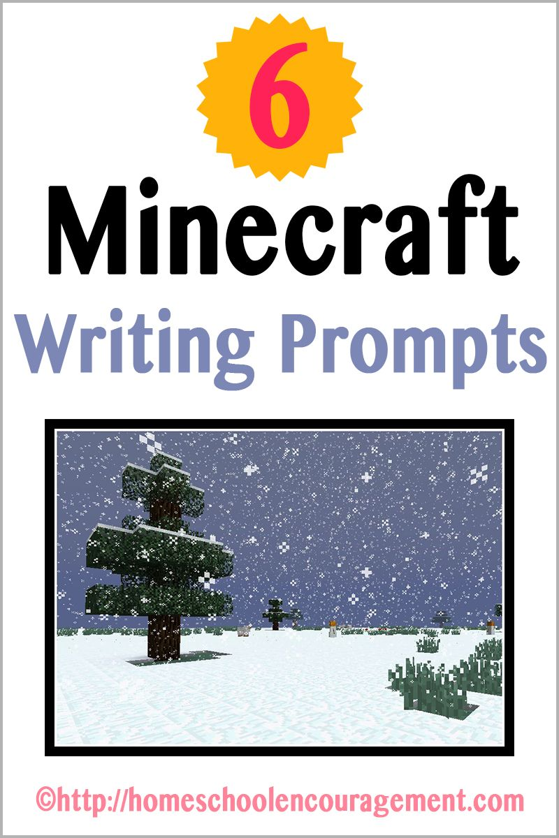 Minecraft Writing Prompts Writing Prompts For Kids Kids Writing Homeschool Writing [ 1200 x 800 Pixel ]