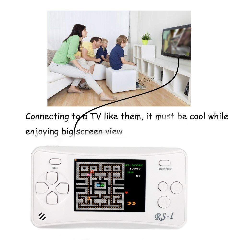 Qingshe Retro Handheld Game Console For Kids Classic Arcade Video