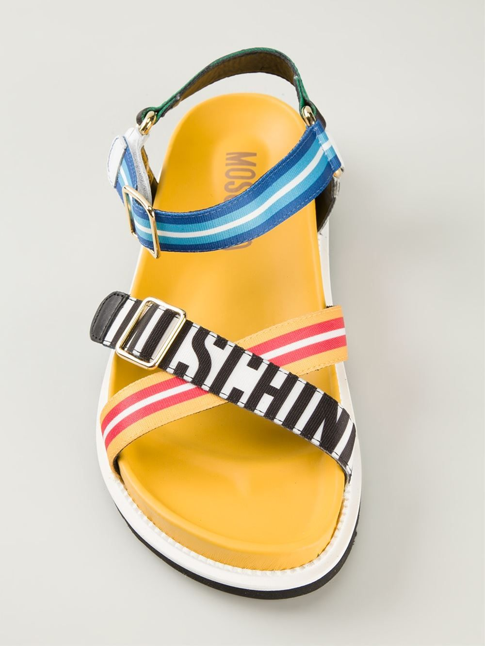 93625243ac6 Moschino striped sandals in multicolor for men hot shoes pinterest jpg  1000x1334 Multicolor sandals men