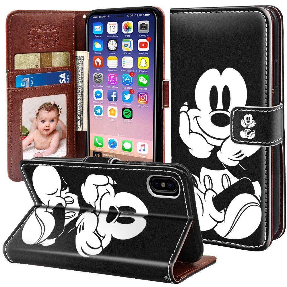 Onelee iphone x 58 wallet leather case onelee disney