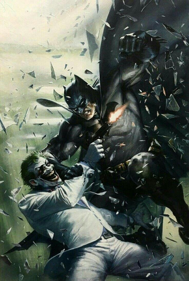 Batman Vs Joker Joker Pinterest Batman Dc Comics And Comics