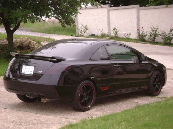 Jdm Cars · Blacked Out Tail Lights, Black Rims, Honda Civic