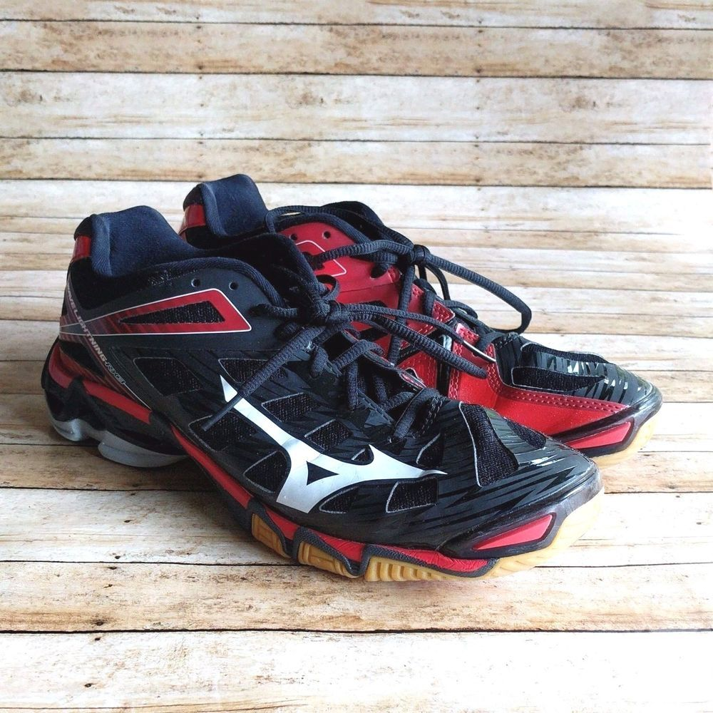 Mizuno Wave Lightning Rx3 Women S Athletic Volleyball Shoes Red Black Size 10 Volleyball Shoes Black And Red Athletic Women