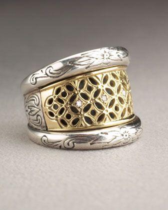 Konstantino Lattice Diamond Ring QPJdZ